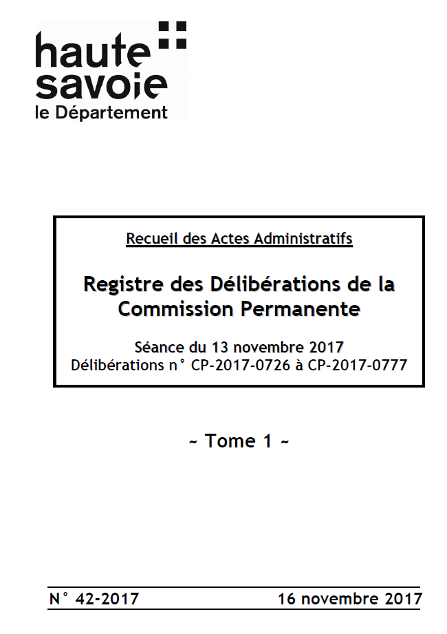 registre des d u00e9lib u00e9rations de la commission permanente